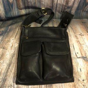 Black fossil shoulder bag
